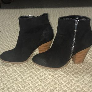 Just Fab Black Booties, Sz 7